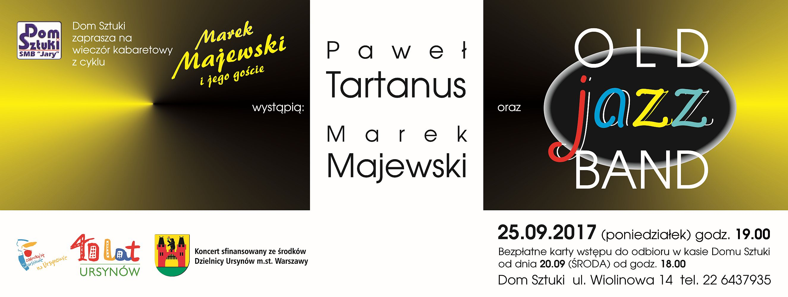 koncert 2017.09.25 M.Majewski P.Tartanus Old Jazz Band